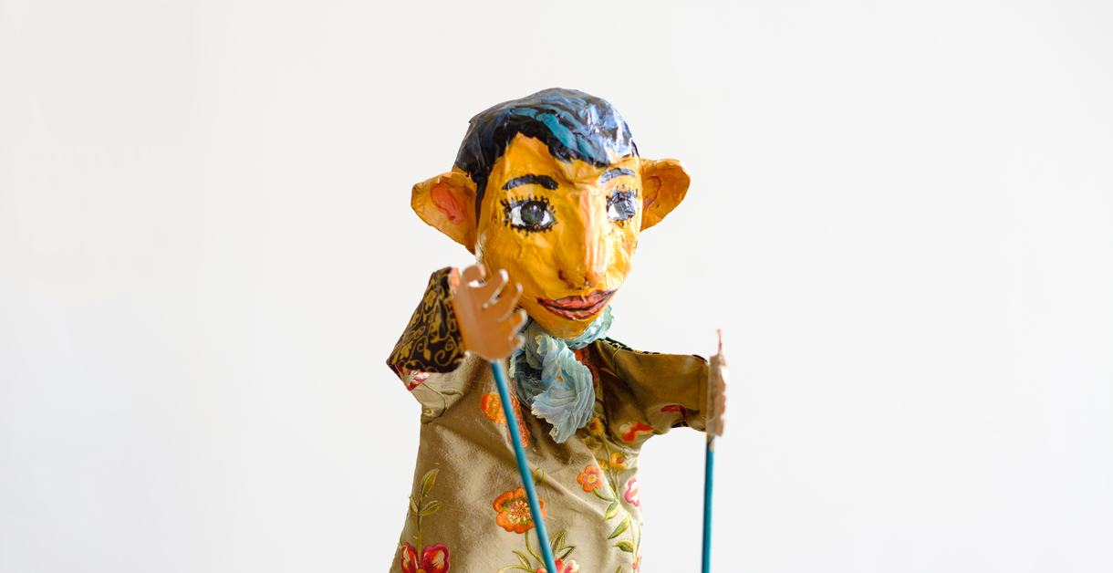 Painted puppet for Rug Rhymes