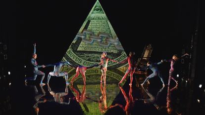 Dancers perform in MK ULTRA by Rosie Kay Dance Company