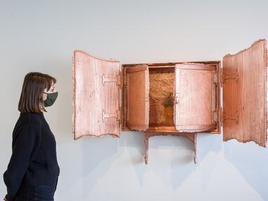 Installation view of Matthew Barney Redoubt at Hayward Gallery, 2021 © Matthew Barney, 2021. Photo Mark Blower