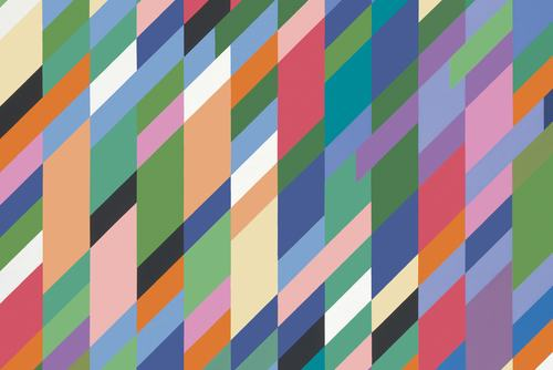 High Sky (detail), 1991. Oil on canvas. 165 x 227 cm. Copyright Bridget Riley 2018. All rights reserved.