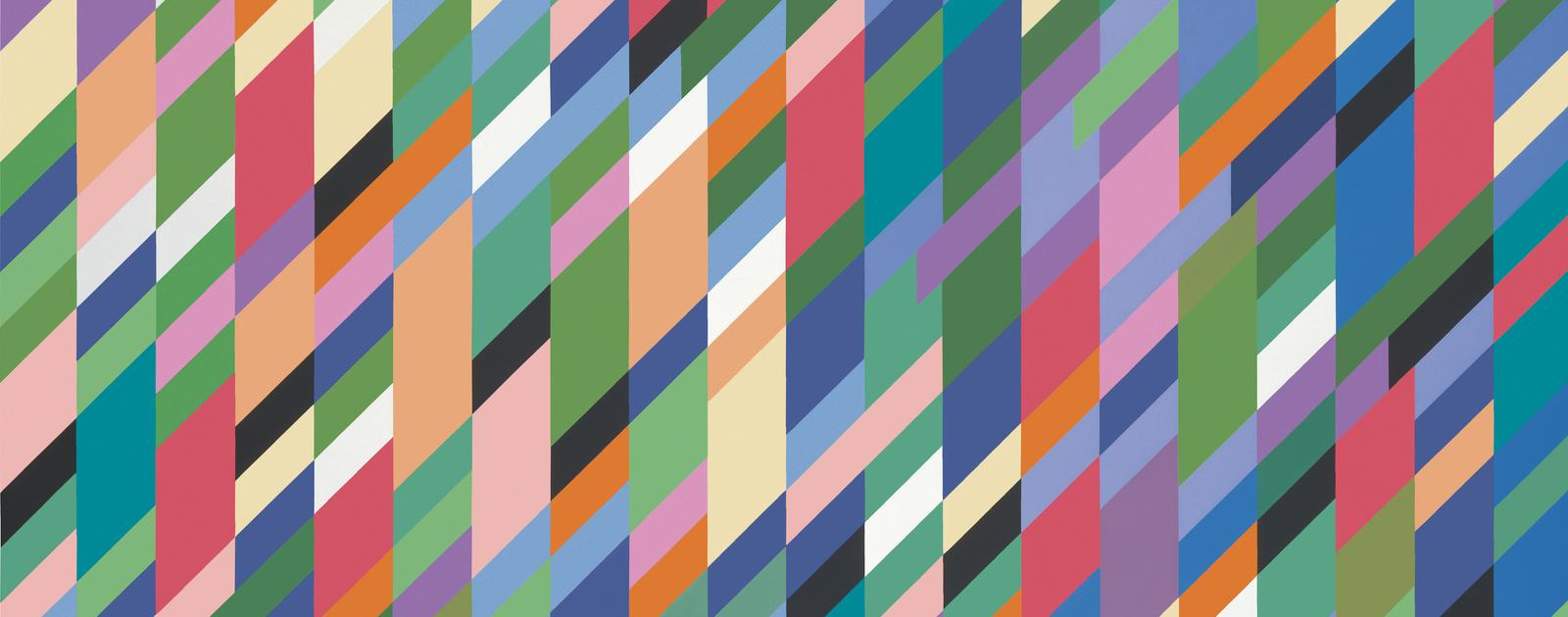 High Sky, 1991. Oil on canvas. 165 x 227 cm. Copyright Bridget Riley 2018. All rights reserved.
