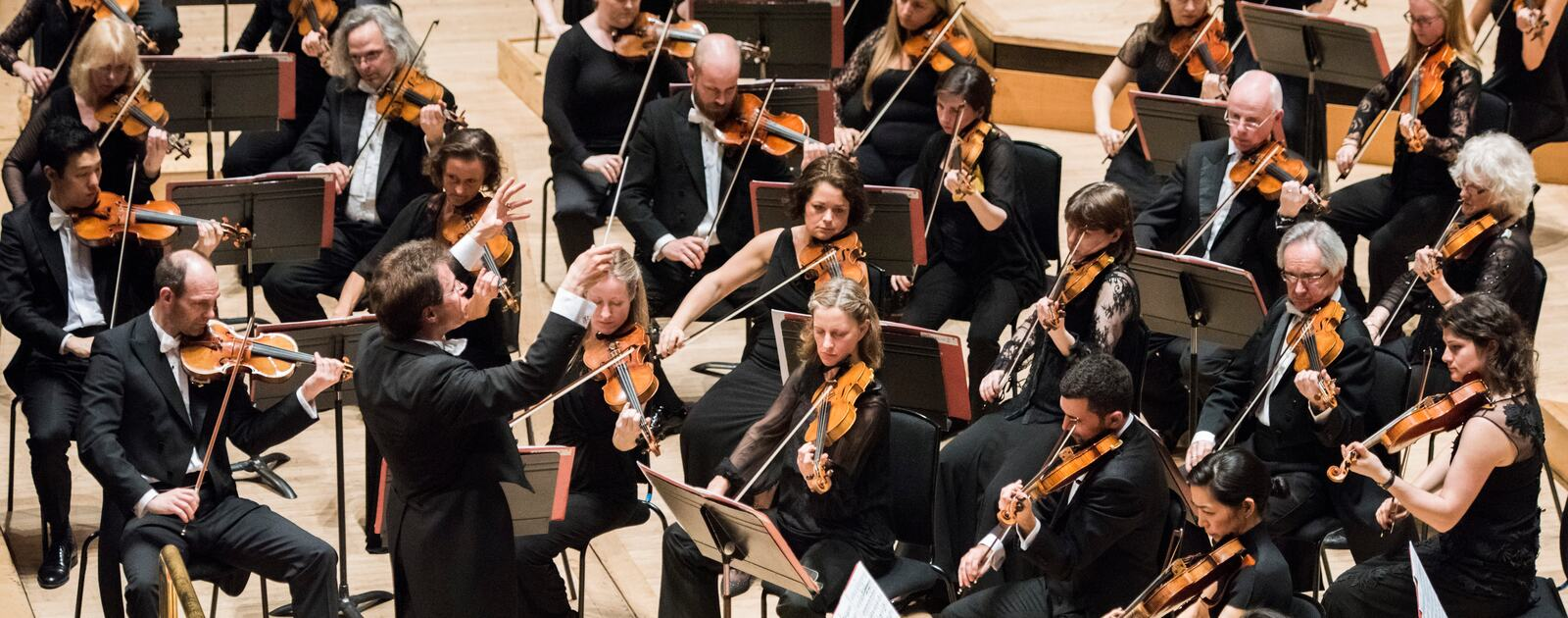 orchestra on stage