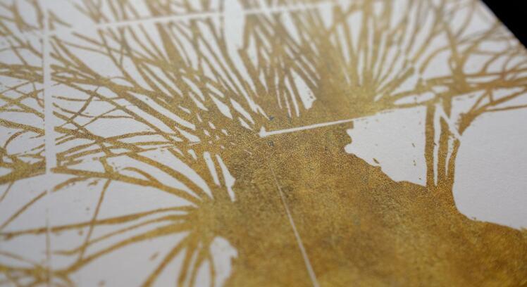 Gold patten print