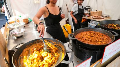 Southbank Centre Food Market.Stall 25 - The Indians Next Door.August 2016