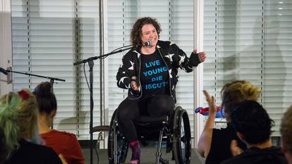Jess Thom  Stand Up Sit Down Roll Over Performance supported by Ted Shiress