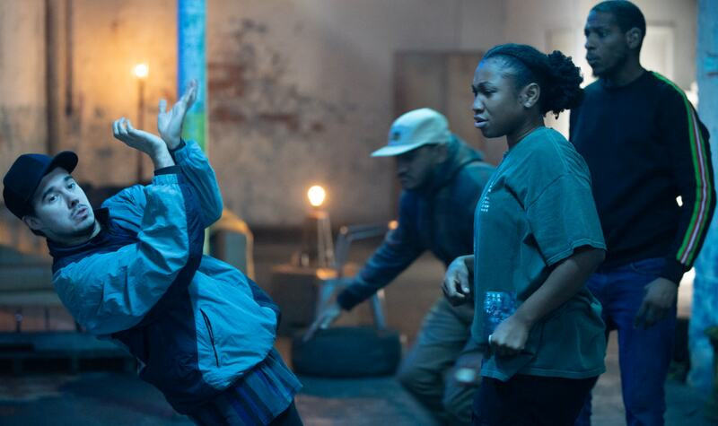 Hip-hop street dancers