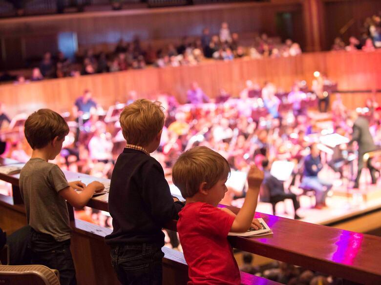 Children at the LPO Funharmonics concert