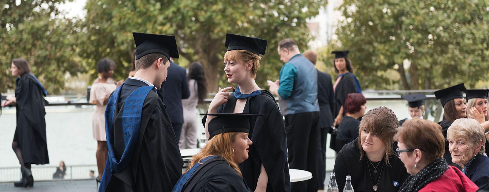 Graduates at Royal Festival Hall terrace