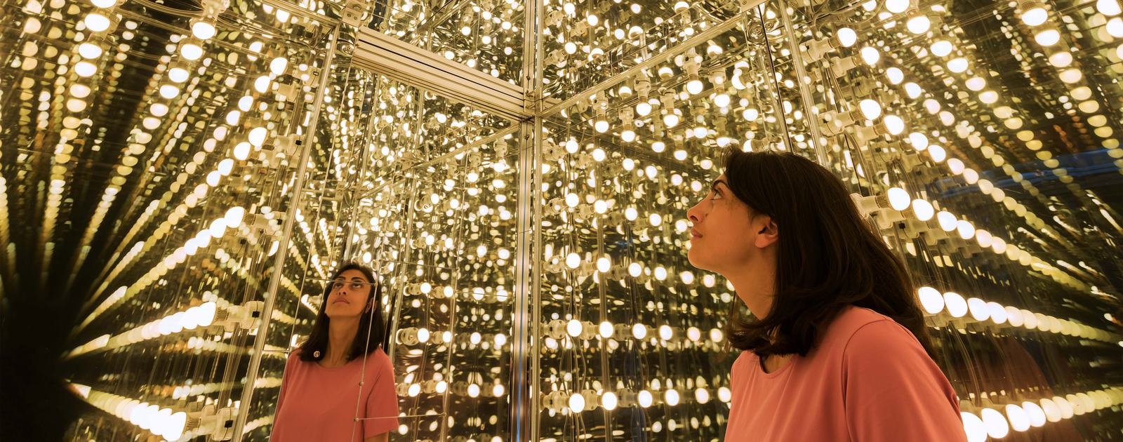Installation view of Lee Bul, Via Negativa II, 2014 at Hayward Gallery, 2018 (interior detail) © Lee Bul 2018  Photo: Mark Blower