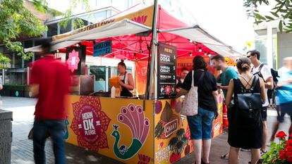 Southbank Centre Food Market.Stall 8- Horn OK Please.August 2016