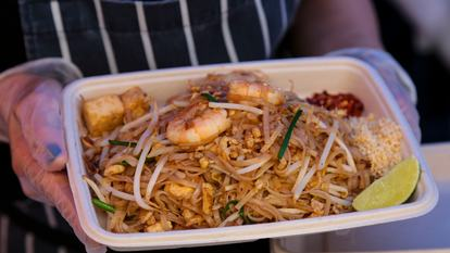 Southbank Centre Food Market.Stall 28 - Pad Sen.August 2016