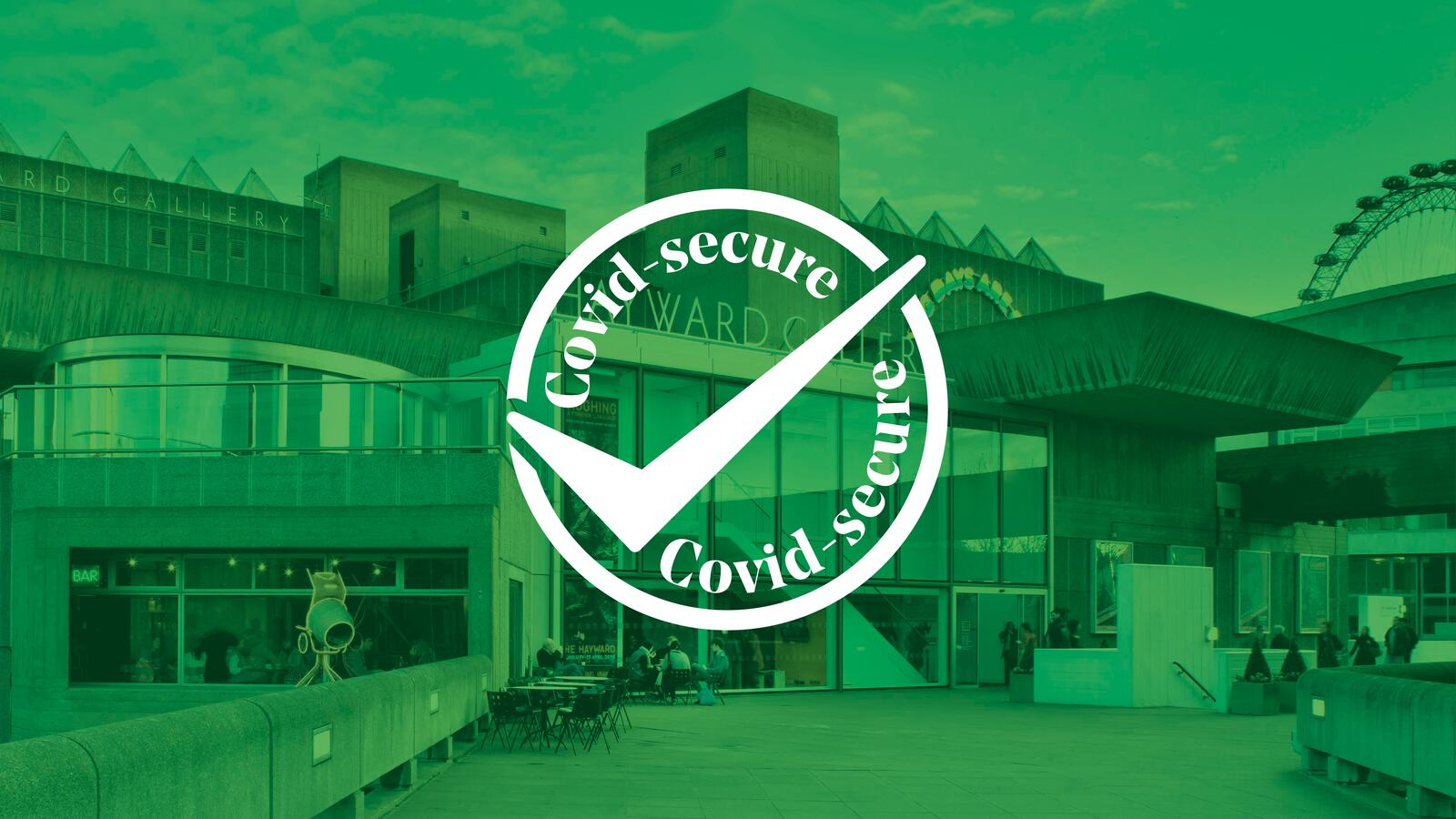 Covid-secure logo on Hayward Gallery page