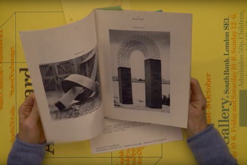 Still from film by Hayward Gallery looking back at the 1978 exhibition, Hayward Annual '78