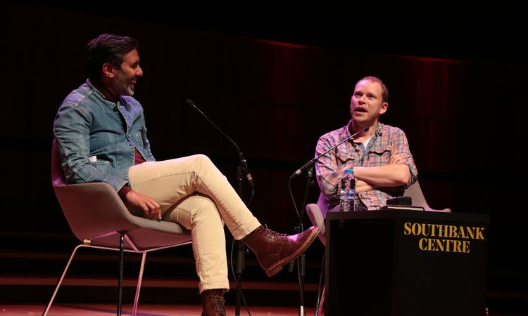 Robert Webb in discussion with Nihal Arthanayake