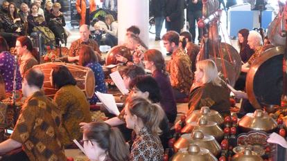 Indonesian Gamelan Selamatan performance as part of Belief and Beyond Belief.
