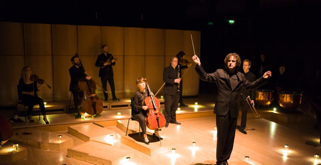 Aurora Orchestra performing on stage