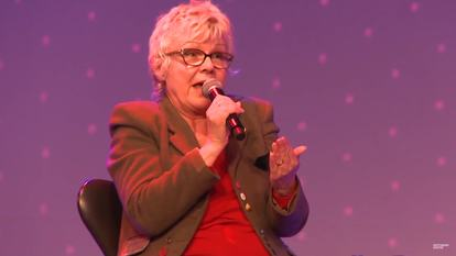 Still from video of Julie Walters in Conversation at WOW 2013, Southbank Centre 2013
