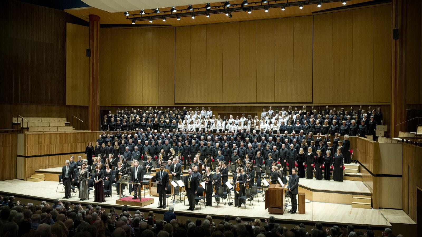 The Bach Choir on stage