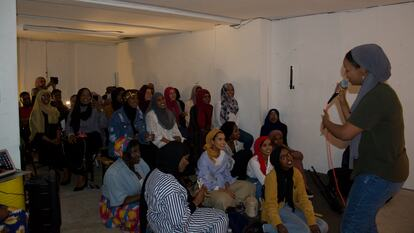 An audience at a Poetry and Shaah event