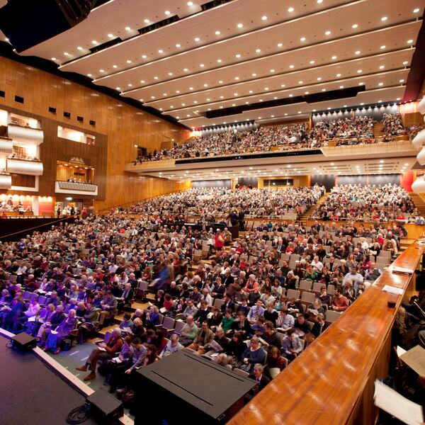 Audience in the Royal Festival Hall Auditorium