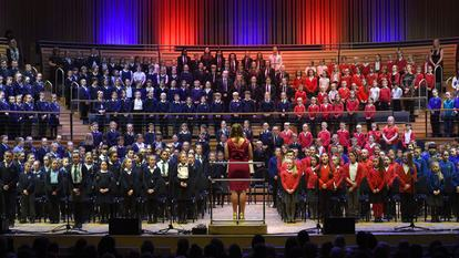 Middlesbrough School pupils  perform at the SAGE in Gateshead.2/3/16  Pic Doug Moody Photography