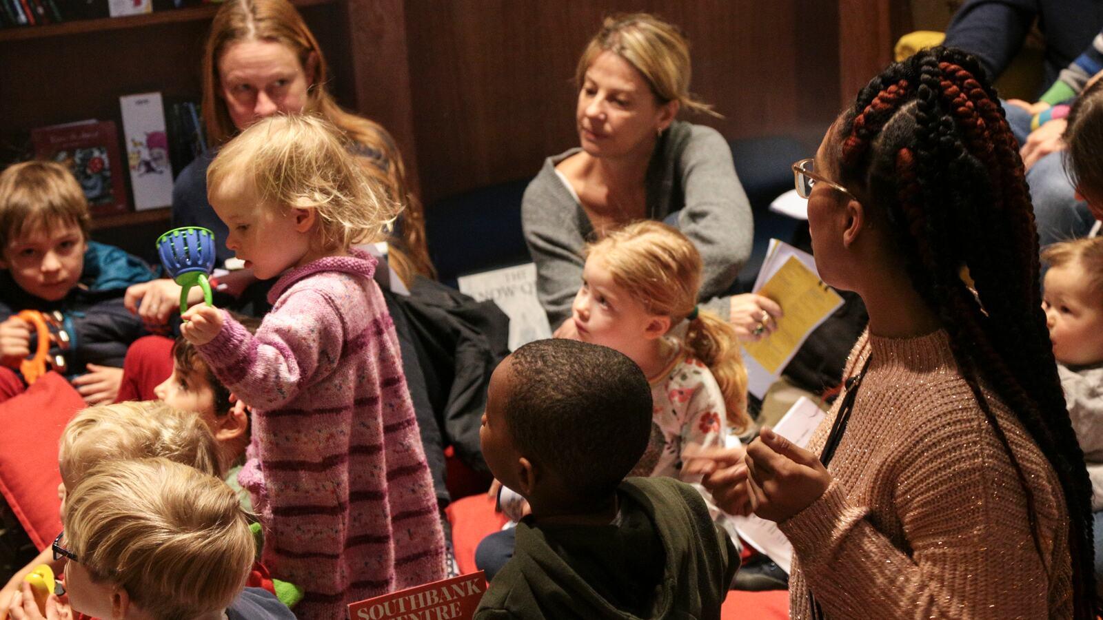 Children listening to stories