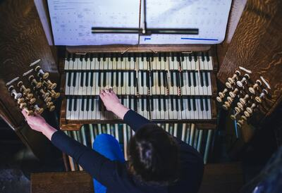 The Organ being played