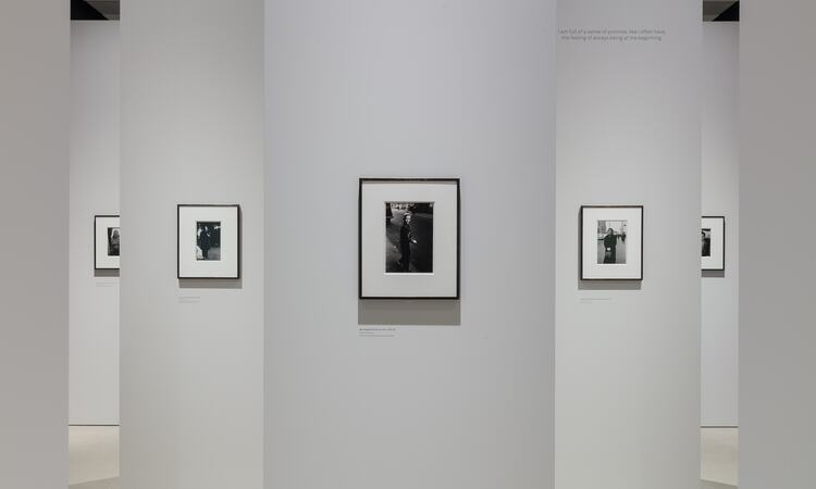Installation view of the exhibition 'diane arbus: in the beginning' in situ at Hayward Gallery, Southbank Centre