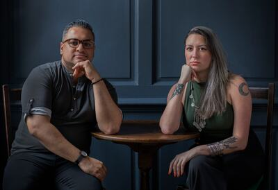 Nikesh Shukla and Chimene Suleyman, writers