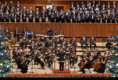 Orchestra in Royal Festival Hall
