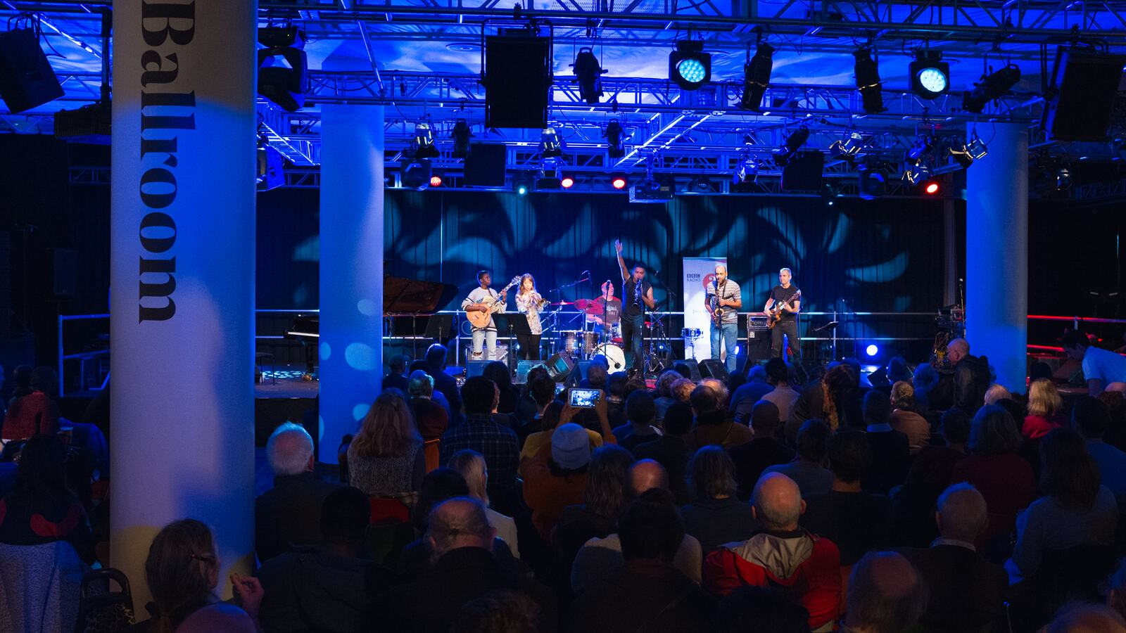 BBC Radio 3's J to Z, performers on stage in the Clore Ballroom