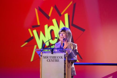 Jude Kelly CBE, founder of WOW, speaking at the 2018 festival