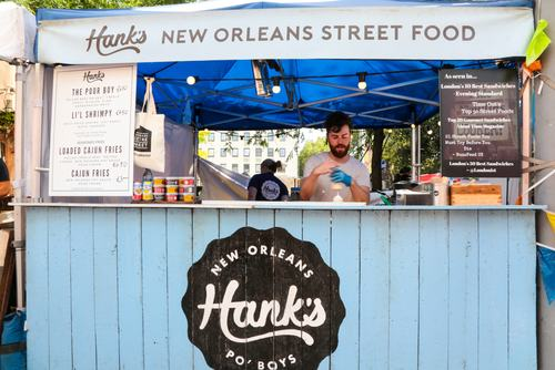 Southbank Centre Food Market.Stall 9 - HANK'S.August 2016