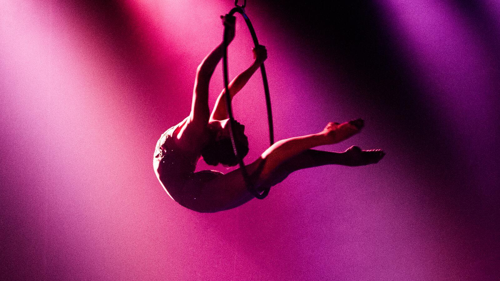 Performing acrobat at Circus 1903