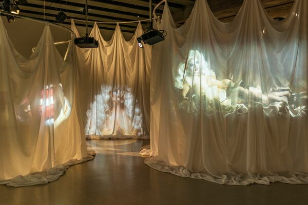 Installation view of Kiss My Genders