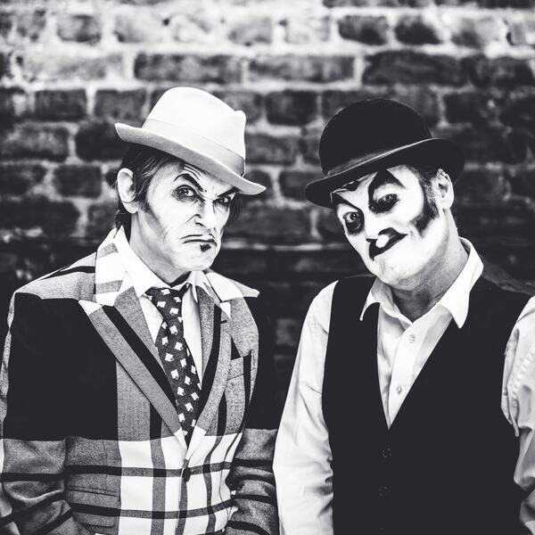 Black and white photo of The Tiger Lillies