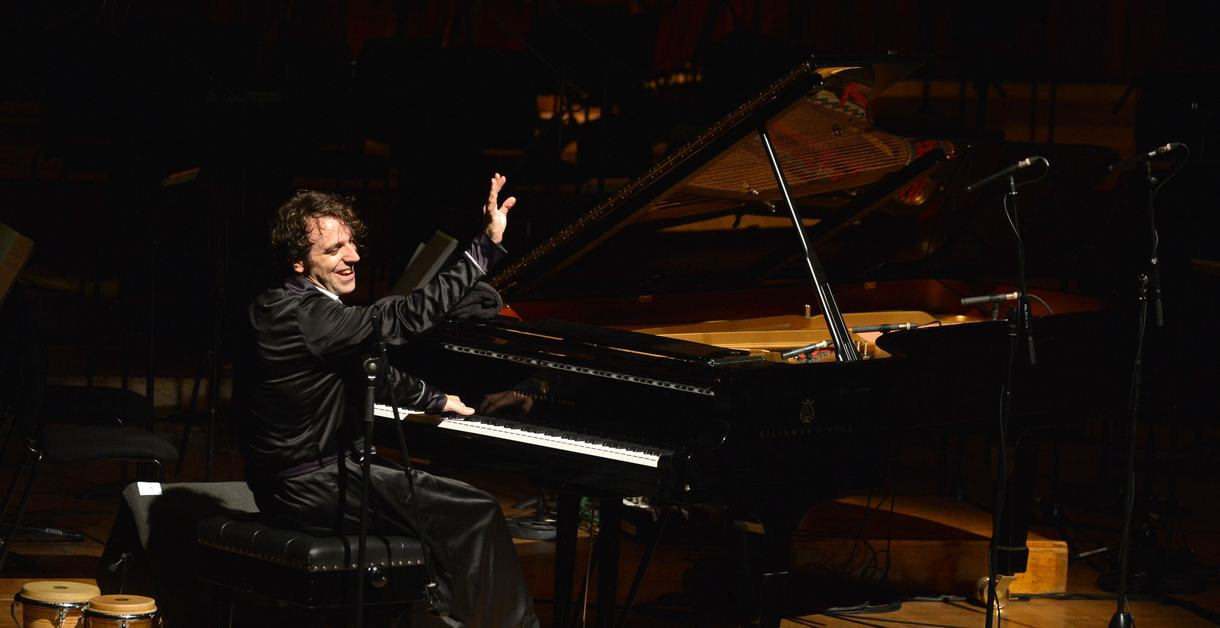 Chilly Gonzales performs a one-off show accompanied by the BBC Symphony Orchestra conducted by Julian Buckley at the Barbican, London on Saturday 20 Oct. 2012...Photo by Mark Allan