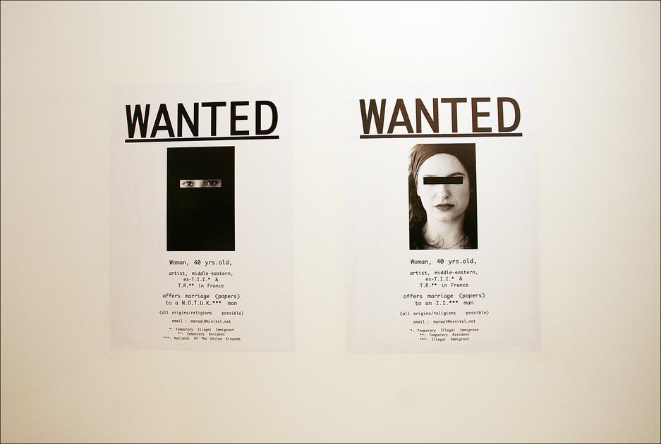 Ghazel - Wanted (2006)  at Laughing in a Foreign Language Exhibition Hayward Gallery 2008