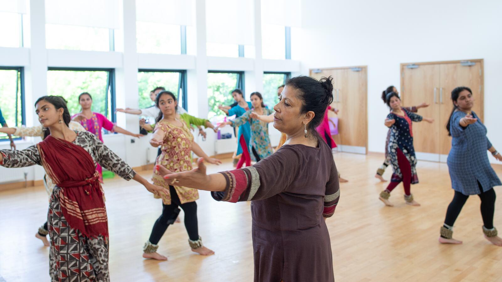 Dancers in a studio