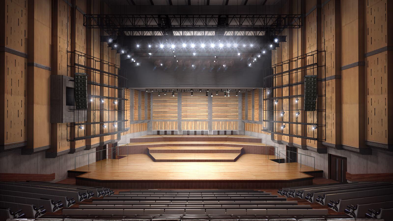 Interior view of Queen Elizabeth Hall auditorium