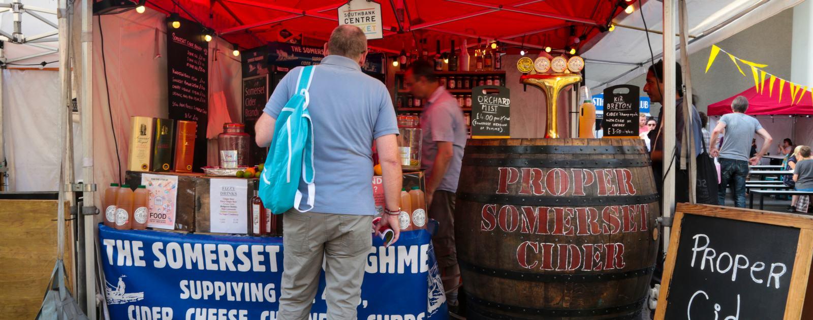Southbank Centre Food Market.Stall 26 - Somerset Ploughman.August 2016