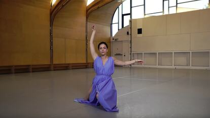 Still of dancer from Dancing Words film