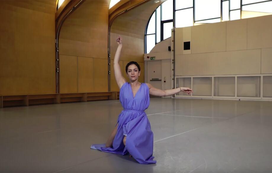 Still of dancer from Dancing Words film
