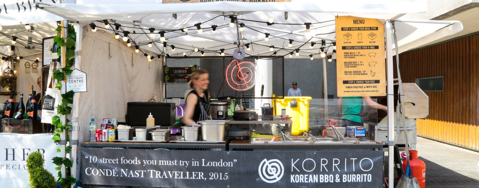 Southbank Centre Food Market.Stall 4 - Korrito.August 2016