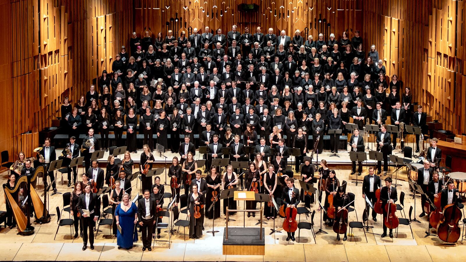 London Concert Choir performing on stage