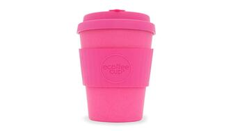 Bright pink Ecoffee Cup - reusable coffee cup