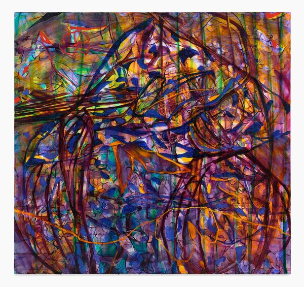 Jadé Fadojutimi, Cavernous Resonance, 2020 Oil and oil stick on canvas, 170 x 180 cm