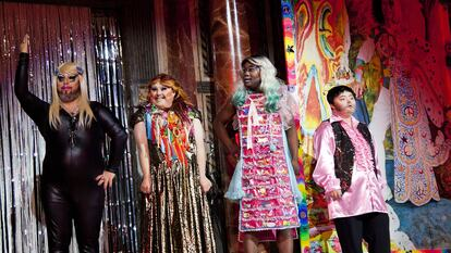 Drag Syndrome, four performers on stage