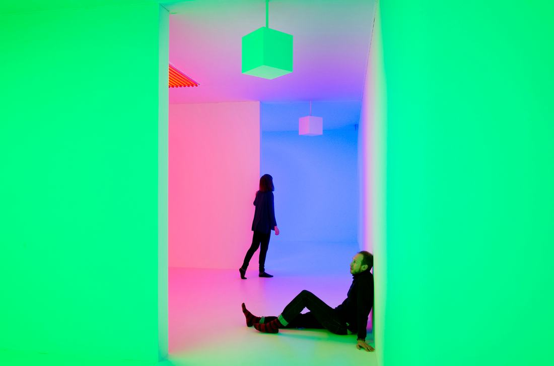 Chromosaturation by CARLOS CRUZ-DIEZ  at LIGHT SHOW at Hayward Gallery, Southbank Centre 2013