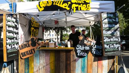 Southbank Centre Food Market.Stall 27 - Ladle & Skillet.August 2016